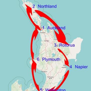 Routenvorschlag Neuseeland in 6 Wochen!