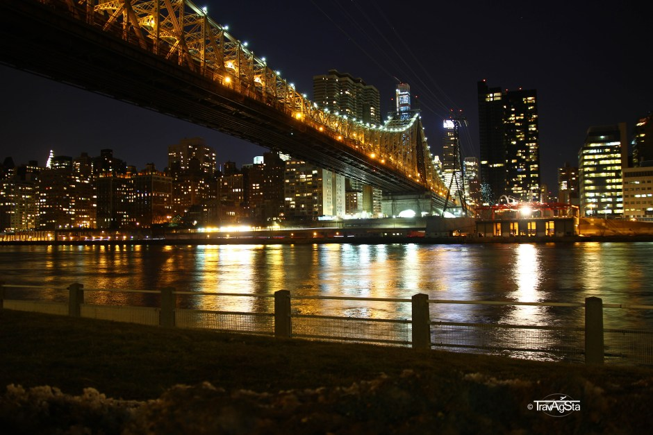 New York, Roosevelt Island - View on Manhattan