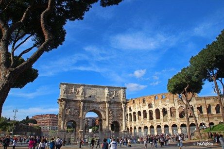 Rome, Colosseo, Arch of Trajan