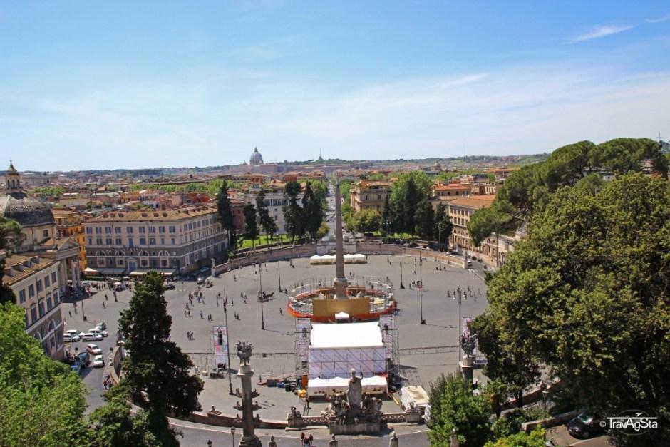Piazza di Popolo, Rome, Italy