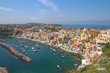 Procida, View from Terra Murata, Italy