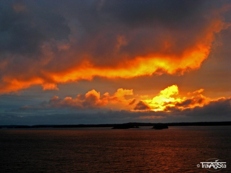 Sunrise over the sea, Finland