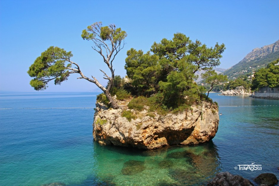 Brela Rock, Punta Rata Beach, Croatia