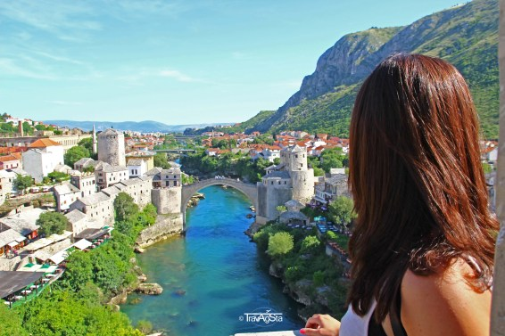 Stari Most, View from Mosque, Mostar, Bosnia and Hercegovina