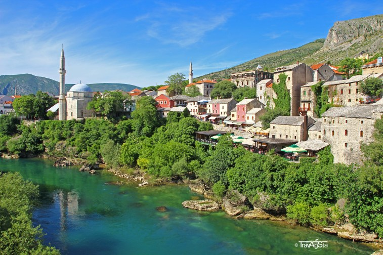 View from Stari Most, Mostar