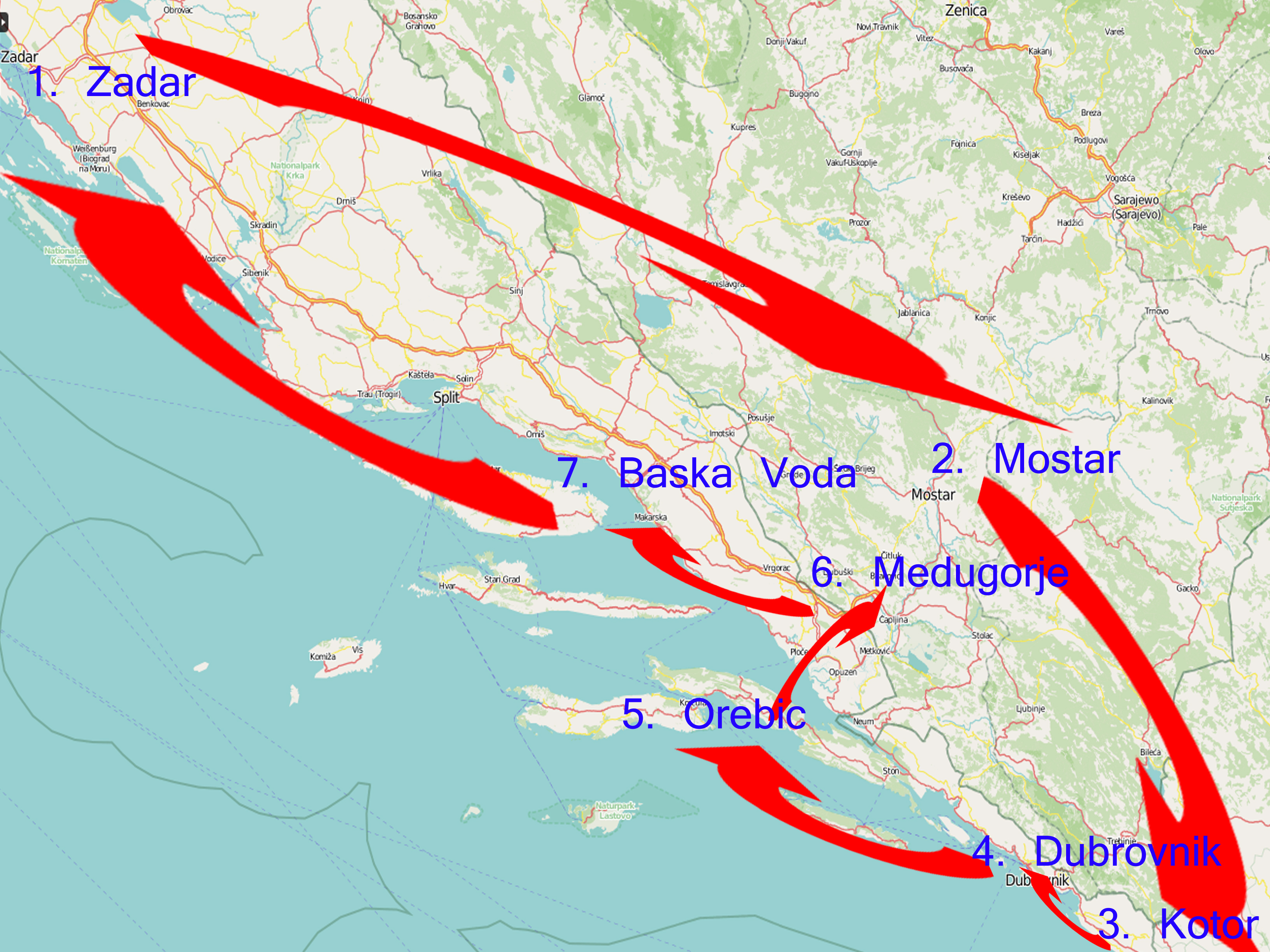 Our itinerary for western Balkans in 10 days!