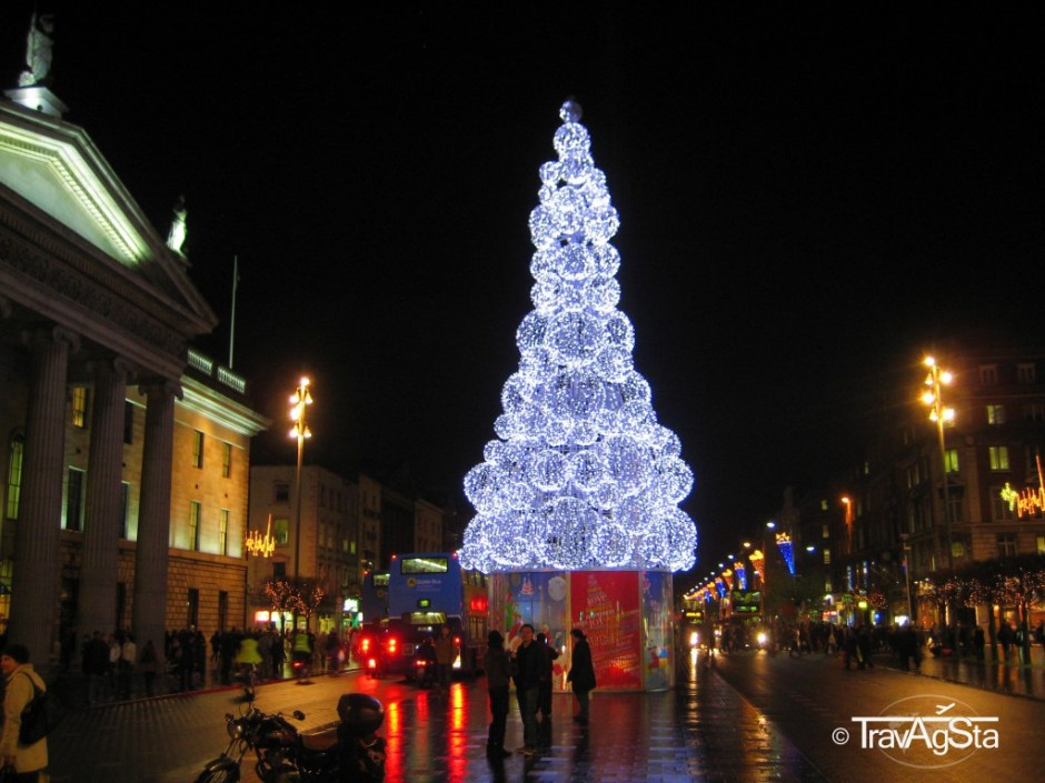 Christmas time arrived in Dublin, Ireland