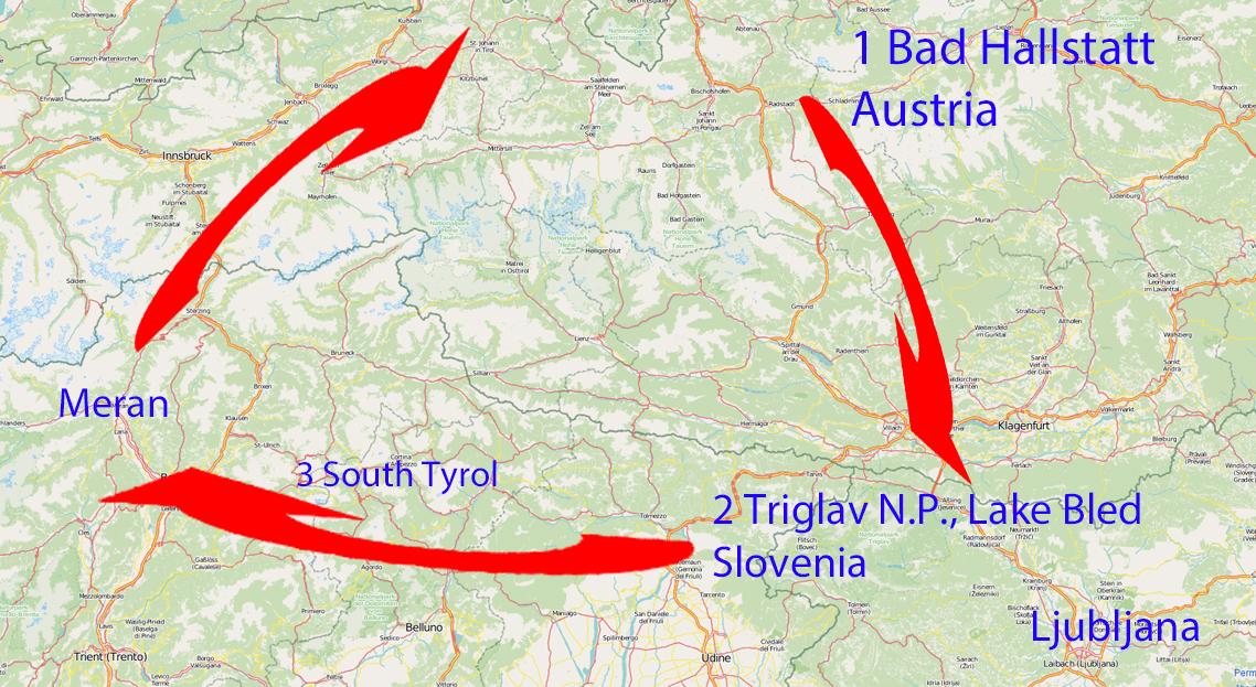 Itinerary for a roadtrip through the Alps – 1 week in Slovenia, South Tyrol and Austria