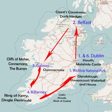 Routenempfehlung für 10 Tage Irland und Nordirland!