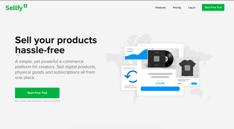 Sellfy, the simplest and most affordable