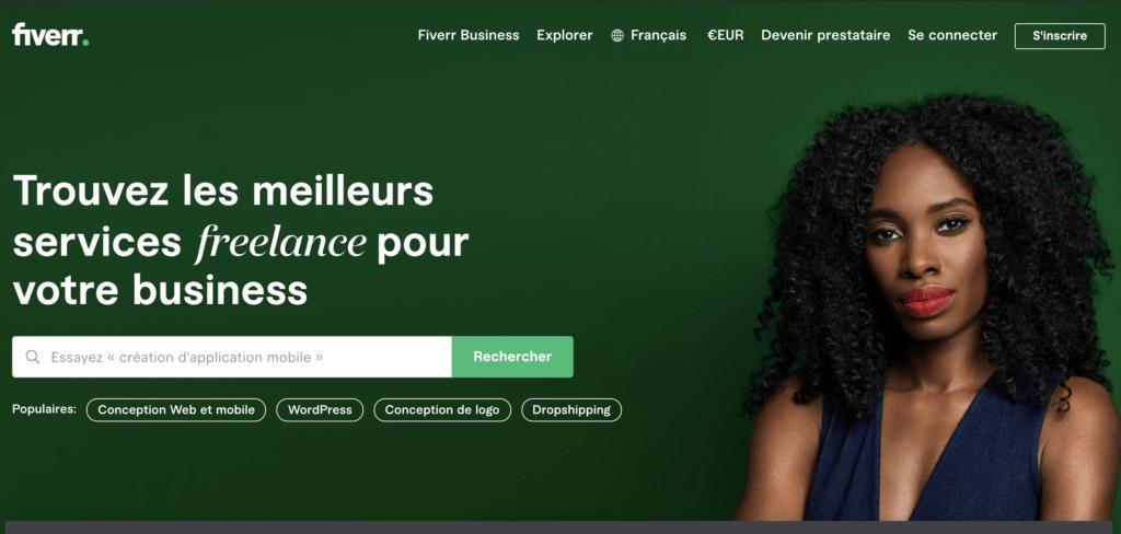 Trouver des freelancers dans tous les domaines avec Fiverr