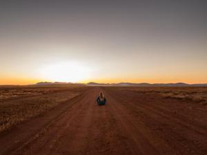 coucher de soleil outback