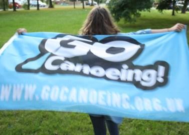 Go Canoeing Flag Run Blurry