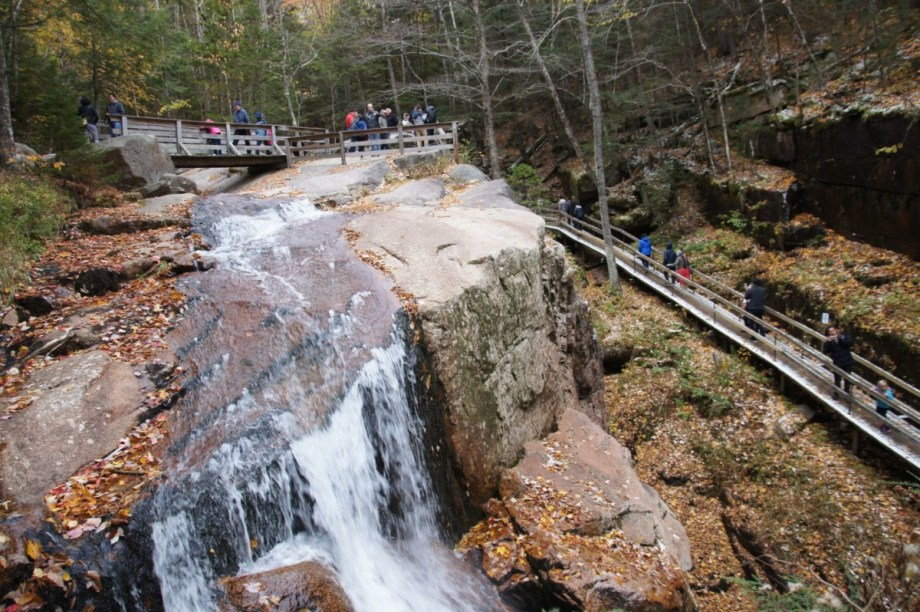 The waterfall at the Flume