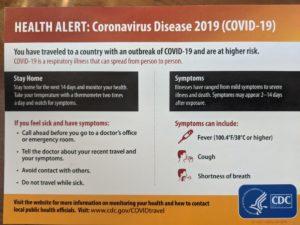 CDC Info on Covid-19