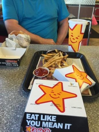 Carl's Jr., junk food but yum!