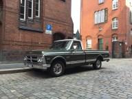 Classic truck in Hamburg's Speicherstadt