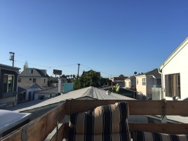 View from our tiny roof terrace in Mission Beach