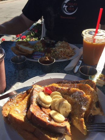 Spontaneous breakfast at The Olive Café in Mission Beach, CA
