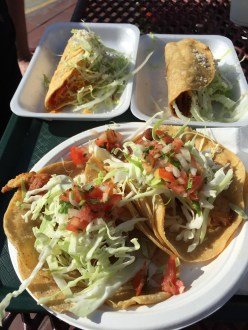 Perfect hole-in-the-wall fish tacos in sunny CA