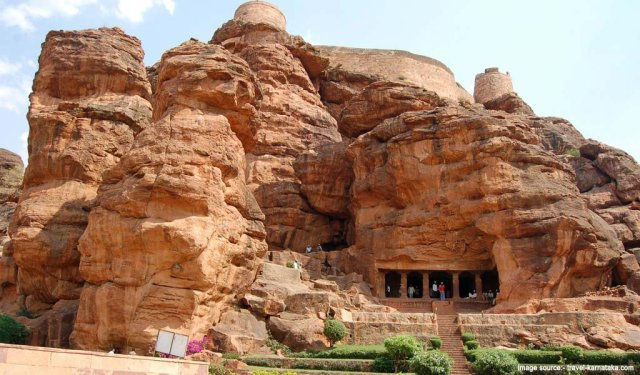 Famous Pilgrimage Places in South India : Badami Cave Temples