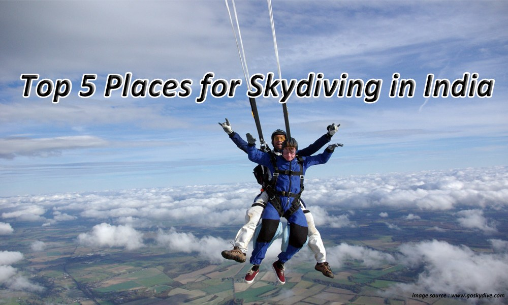 Top 5 Places for Skydiving in India