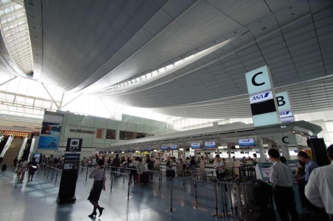 羽田空港国際線ターミナル ANA Cカウンター