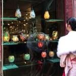 函館旅行 女子ひとり旅 きもの体験 ショールも可愛い