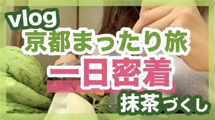 【vlog】インスタ映えな京都ひとり旅1日密着動画。抹茶尽くし!