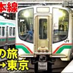普通列車で岩手→東京 東北本線の旅【1901東北7】花巻駅→赤羽駅 1/29-05