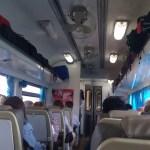 海外旅行!タイ・チェンマイ行き特急列車の社内の様子