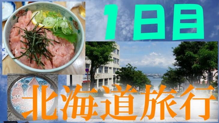 【北海道旅行】1日目、まずは函館を歩く!市場、八幡坂、五稜郭タワー、そして謎の鳥。【もちアニ】