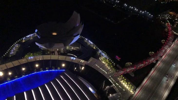 GO!GO!初シンガポール 一人旅 6デイズ( ´ ▽ ` )ノ マリーナベイサンズ  サンズスカイパークからの夜景