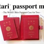 夏休み準備☆夫婦や親子の海外旅行の必需品!二人用パスポートケース「futari passport mini」