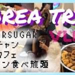 《Vlog》初投稿【韓国旅行】高校生女子2人旅🇰🇷 タイガーシュガー、シンサのコプチャン、話題のインスタ映えカフェ、新村サーモン食べ放題!!  KOREATRIP 한국여행 ❤︎