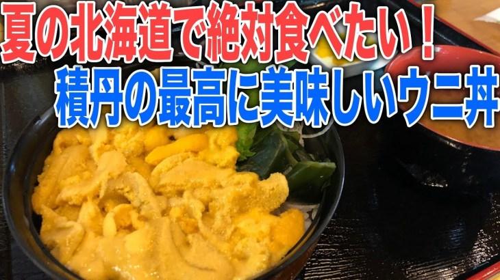 北海道グルメ一人旅!積丹で今が旬のうまいウニ丼と積丹ブルーを岬で楽しむ
