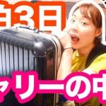 【パッキング】夏だ!海だ!2泊3日湘南旅行への持ち物紹介!!!【packing/バッグの中身】