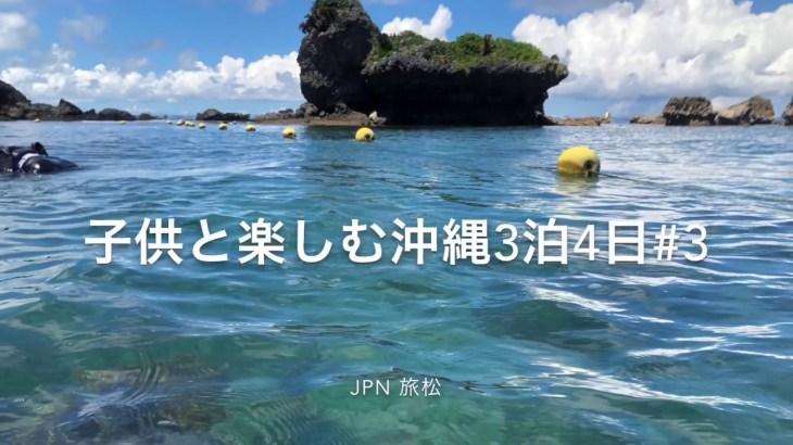 【沖縄】子供と楽しむ沖縄3泊4日#3 家族旅行 レンタカーで海中道路 伊計島の伊計ビーチでシュノーケル 綺麗な魚 カクレクマノミ ぬちまーすのパワースポット 3日目 天気晴れ 20190830