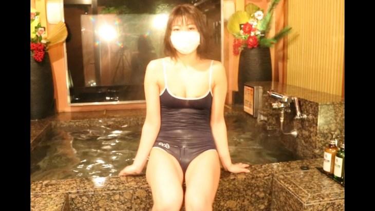 (露天風呂温泉女子)温泉女子の休日、温泉旅行、スレンダー、グラマー、スーパーボディー、かわいい、温泉モデル  Open air bath(love hotel)