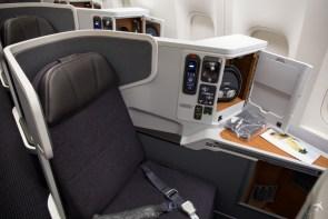American Airlines Business Class Fenstersitzplatz
