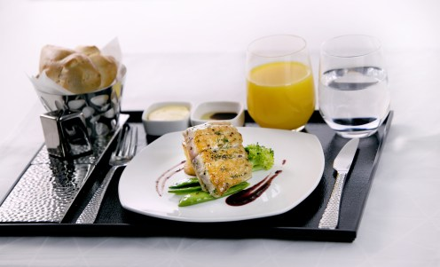 Etihad Airways Business Class meal