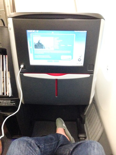 JAL Business Class Boeing 787 IFE