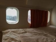 Wie in jedem Flugzeug kann man auch hier nicht die Fenster öffnen