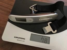 Luxbell Kofferwaage Eigengewicht