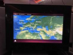 Qatar Airways Business Class Moving Map