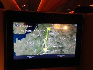 Swiss Boeing 777 Business Class Moving Map