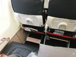 Sitze in der Economy Class im Airbus A320