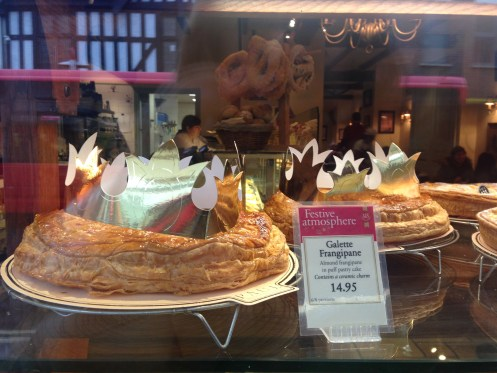 Galette des Rois in Paul Bakery's window, Richmond
