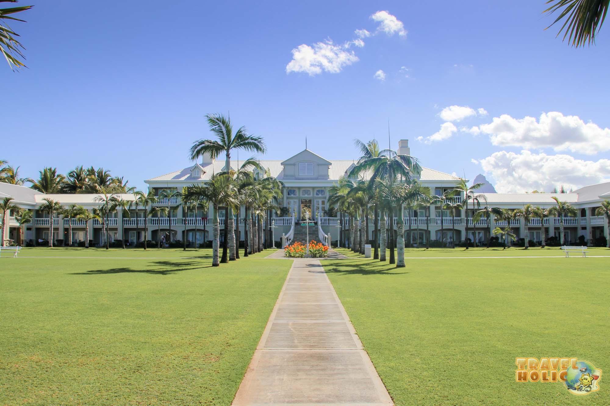 La façade de l'hôtel Sugar Beach Golf & Spa Resort à l'Ile Maurice