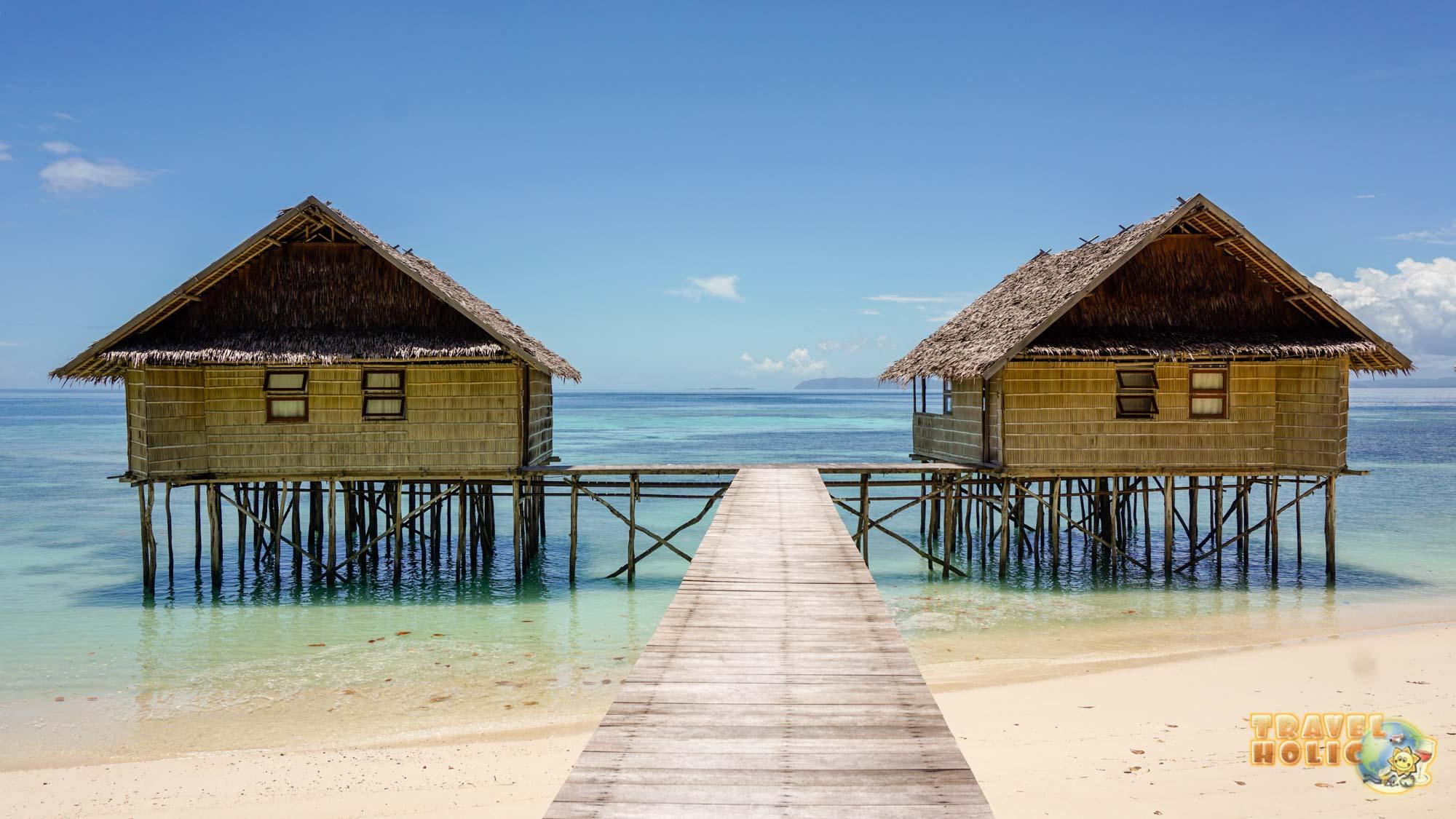 Les villas du Papua Paradise, à Raja Ampat